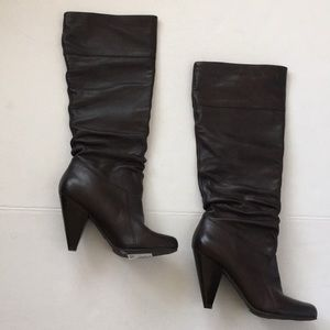 JESSICA SIMPSON brown Angie slouch boot